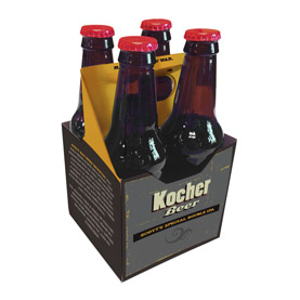 4 Pack 12 oz. Beverage Carrier Crafty